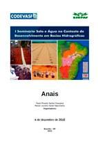 Capa - Anais do 1º Seminário Solo e Água no Contexto de Desenvolvimento em Bacias Hidrográficas.jpg