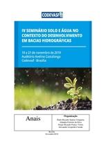 Capa - Anais do 4º Seminário Solo e Água no Contexto de Desenvolvimento em Bacias Hidrográficas