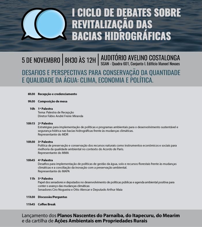 I Ciclo de Debates sobre Revitalização das Bacias Hidrográficas