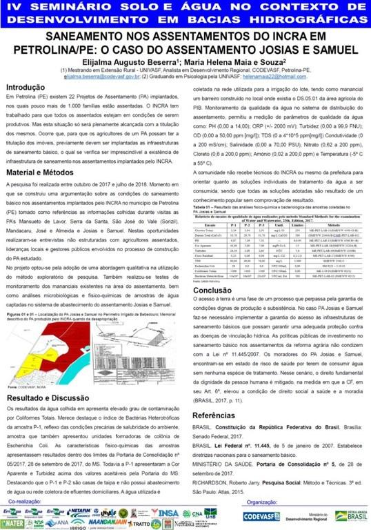 15 - Saneamento nos assentamentos do Incra em PetrolinaPE o caso do assentamento Josias e Samuel.jpg