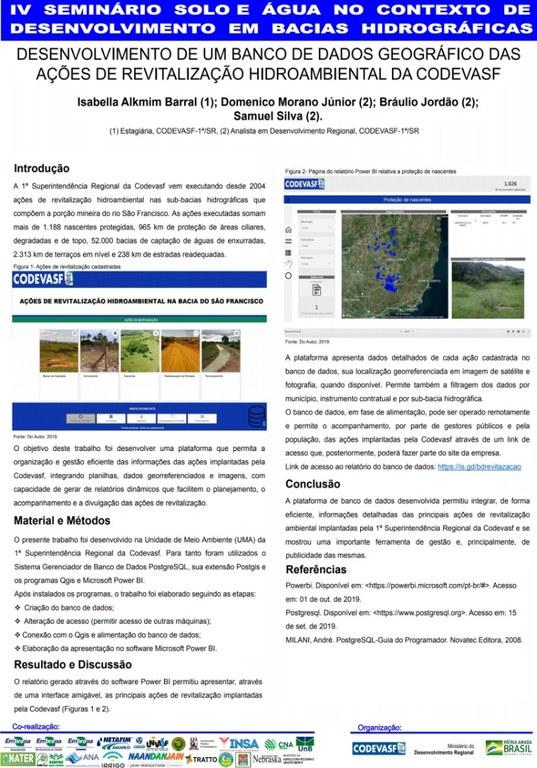 17 - Desenvolvimento de um banco de dados geográfico das ações de revitalização hidroambiental da Codevasf.JPG