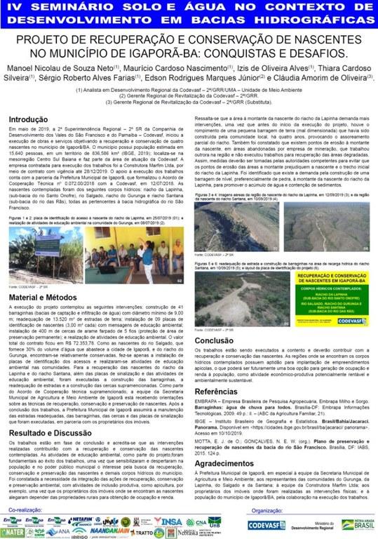 29 - Projeto de recuperação e conservação de nascentes no município de IgaporãBA conquistas e desafios.JPG