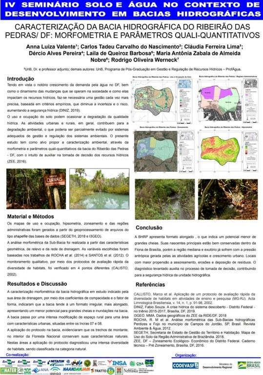 6 - Caracterização da bacia hidrográfica do Ribeirão das PedrasDF morfometria e parâmetros qualiquantitativos.JPG