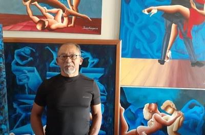 Exposição O Corpo fala - fase azul