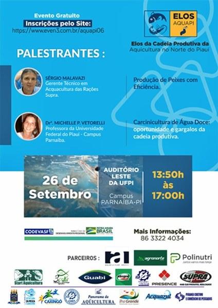 Banner: Codevasf promove encontro da cadeia produtiva da aquicultura no norte do Piauí