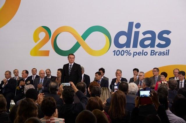 Cerimônia alusiva aos 200 dias de governo. Crédito: Cássio Moreira/Codevasf.