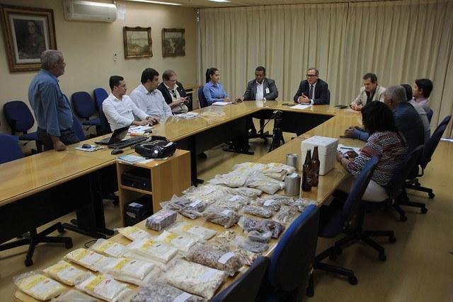 Reunião na sede da Codevasf, em Brasília (DF)