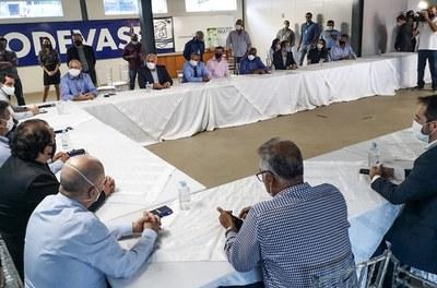 Agenda no Norte de Minas. Reunião com prefeitos e irrigantes