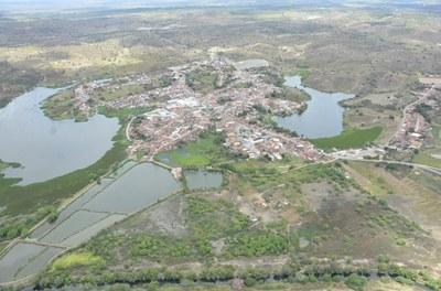 Imagem aérea do município Cedro de São João