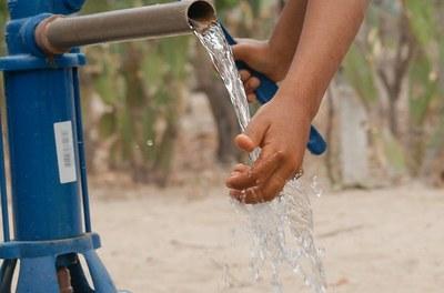 Água na torneira