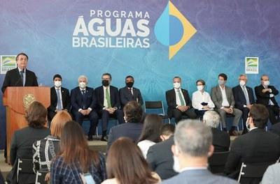 22/03/2021 Anúncio de Investimentos para o Programa Águas Brasileiras - Foto: Marcos Corrêa/PR
